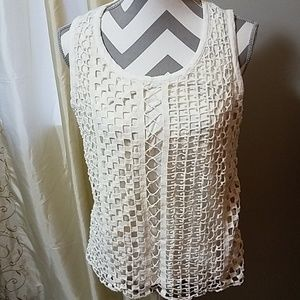 Chico's crochet detail on front tank top. EUC